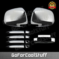 For Toyota 05-10 Tacoma Chrome 4D Door Handle + Mirror + Tailgate Cover W/O Cam