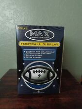 Max Pro Full Size Football Cube Display Case UV Protection NFL Holder Super
