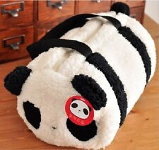 Large Cute Plush Panda Cylindrical Handbag Travel Bag Storage Shoulder Baby Bag