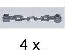 LEGO - 4 x Kette dunkelgrau mit 5 Kettengliedern / Ketten / 92338 NEUWARE