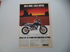 advertising Pubblicità 1989 MOTO YAMAHA TDR 125 LIGHTBURNER