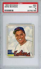 1950 Bowman #93 Gene Bearden PSA 8 NM-MT Cleveland Indians
