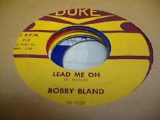 Blues 45 BOBBY BLAND Lead Me On on Duke