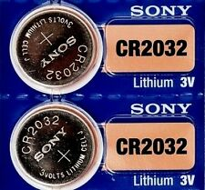 2 Button Batteries 3v Sony Cr2032 Lithium (Dl2032 Br2032 Kl2032 L2032 Ecr2032)