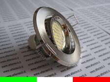 60 LED FARETTO DA INCASSO 120° GU10 BIANCO CALDO 3,5w 220v LAMPADINE LUCI