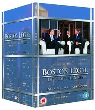 "BOSTON LEGAL COMPLETE SERIES COLLECTION 1-5 BOX SET 27 DISCS ""NEW&SEALED"""