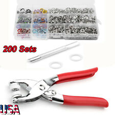 Snap Fasteners Kit Tool 9.5mm Metal Snap Buttons Rings with Tool for Clothing