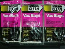 MICRO CLEAN VACUUM CLEANER BAGS, TYPE: A, HOOVER UPRIGHT, #217  Lot of 3 Pack