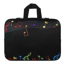 "17"" 17.3"" 17.4"" Music Note Notebook Laptop Sleeve Handle Bag Case T6B2"