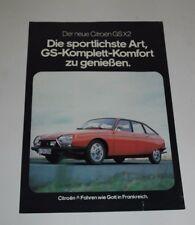 Citroen GS x2 folleto lista de precios brochure incluir publicidad