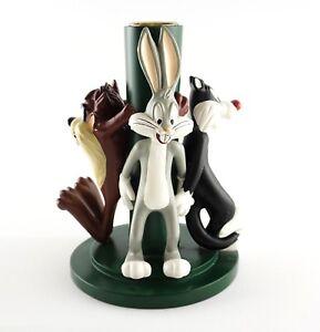 Vtg 1997 Warner Bros Studio Store Looney Tunes Figurines Candlestick Statuette