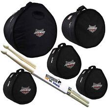 Ahead Armor arset - 5 Case Set Rock 22x18/10x8/12x9/14x14/16 x 16+ tamburi drumsticks