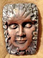 Green Lady mold garden face plaque plastic concrete plaster mould