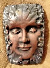 "Green Lady mold garden face concrete plaster plastic mould  8"" x 5"" x up to 1.5"""