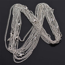 Wholesale Lots 10 Pcs Silver Pld Making Diy Hard Link Chain Necklace 22'
