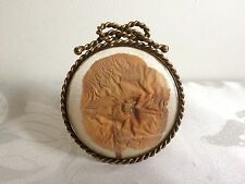 Foto antigua victoriana Antique Victorian Flor & Dorado Marco De Metal
