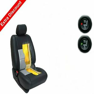 Carbon Fiber Round Switch Universal Heated Seat Heater Kit Car Cushion Warmer