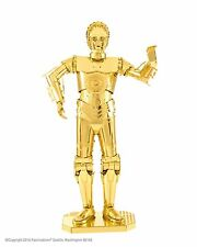 Metallo terra Star Wars 3d Laser Cut kit di modelli in acciaio c-3po DROID GOLD