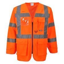 Portwest Hombre Alta Visibilidad Ejecutivo Chaqueta naranja/Amarillo
