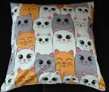 Kissenhülle, Kissenbezug 40x40 cm, Katzen, Kinderkissen, Dekokissen, Handarbeit