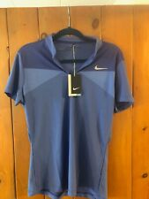 Nike Golf Dri-Fit Polo Shirt Stay Cool Blue On Blue Size L Brand New W/Tags