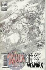 WOLVERINE WEAPON X #1: (2009) 1:100 ADAM KUBERT SKETCH VARIANT COVER