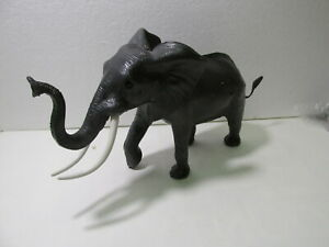 Vintage Gray Rubber Elephant Animal Toy t4340