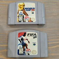 Lot of 2 N64 Nintendo Soccer Sports Games FIFA Road to World Cup & World Cup 98