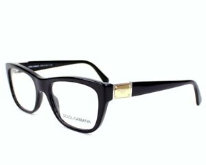 New Dolce & Gabbana D&G DG3171 501 Black Gold RX Eyeglasses Frames 52 mm Italy