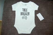 "Baby Essentials ""Tree Hugger"" Bodysuit Cream Age 6 Months BNWT"