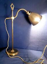 """ANCIENNE LAMPE D'ATELIER, HORLOGER """"PRATIC déposé"""" en métal nickelé époque 1930"""
