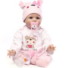 22'' Handmade Silicone Vinyl Reborn Dolls Gift Baby Dolls Lifelike Baby Newborn