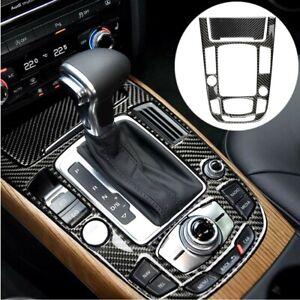 Carbon Fiber Interior Gear Shift Box Panel Cover Trim For Audi A4 A5 Q5 2009-17