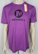 Nwt Merrell purple black Select Wick athletic short sleeve t-shirt mens Medium