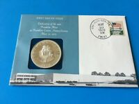 The Franklin Mint First Day Issue 1970 Sterling Silver Proof Medal 1st Day Cover