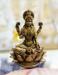 Ebros Vastu Hindu Goddess Of Prosperity Lakshmi Seated Lotus Miniature Figurine