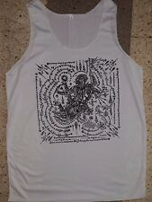 Men Tank Top sleeveless shirt dragon Hanuman  Bali Om Hindu NEW hippie Cotton L