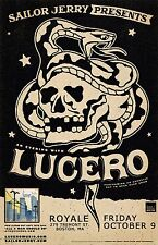 LUCERO 2015 BOSTON CONCERT TOUR POSTER - Alternative Country Rock Music