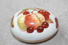 Jubilee Fine Bone China Egg Made in England Trinket Box Collectible Fruit Peach