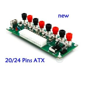20/24Pin ATX Benchtop Board Computer PC Power Supply Breakout Adapter Module