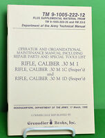 M 1 GARAND .30 Caliber Rifle Maintenance Manual   New Old stock NOS
