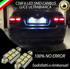 COPPIA LUCI TARGA 6 LED PER BMW SERIE 3 E90 CANBUS NUOVO MODELLO 100% NO ERROR