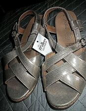 8 - 8 . 5  ( 39 ) Millers Sybil Light Gold Sandals Comfort Low Wedge Shoes