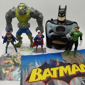 DC Comic Toy Figure Lot Batman Superman Green Lantern Comic Flag Assorted Years