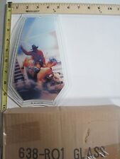 FREE US SHIP OK Touch Lamp Replacement Glass Panel Cowboy Bull Rodeo 638-RO1