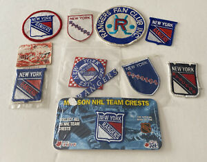 Lot Of 9 Vintage NHL New York Rangers Emblems Patches Patch