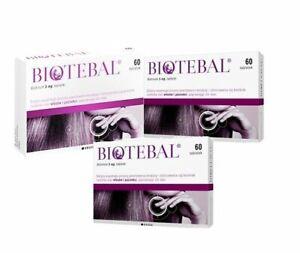 Biotebal 60 Tablets Hair Nail Repair Biotyna 1 box