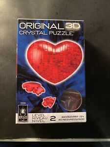 Bepuzzled Original 3D Crystal Puzzle HEART Level 2 NIB 45 pieces! Valentines Day