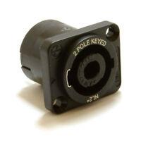 Neutrik 2 Pole Speakon Chasis Mount PA Speaker Solder Terminal Socket [007615]