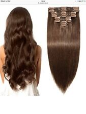 100% Real Thick Clip In Hair Extensions Long Curly Full Head UK Hair Extentions